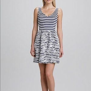 Lilly Pulitzer Roswell Navy White Stripe Dress